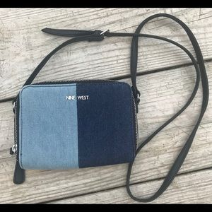 NINE WEST Ania Denim Color block Crossbody